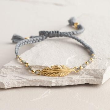 Gold Labradorite Friendship Bracelet