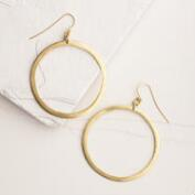 Brass Mapete Hoop Earrings