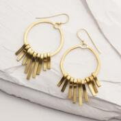 Brass Spoke Hoop Earrings