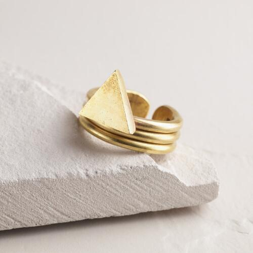 Brass Triangle Ring