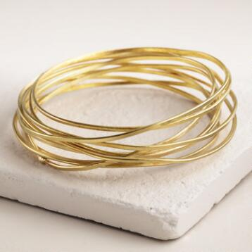 Brass Birds' Nest Bangle