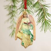Metal Vintage-Style Angel Ornaments, Set of 4