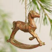Rocking Horse Ornaments, Set of 3