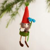Felt Gnome Ornaments, Set of 3