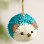 Paper and  Natural Fiber Hedgehog Ornaments, Set of 4