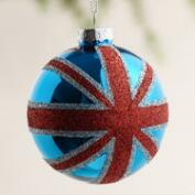 Glass Union Jack Ball Ornament
