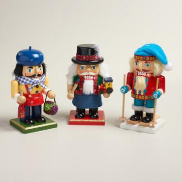 European Nutcrackers,  Set of 3
