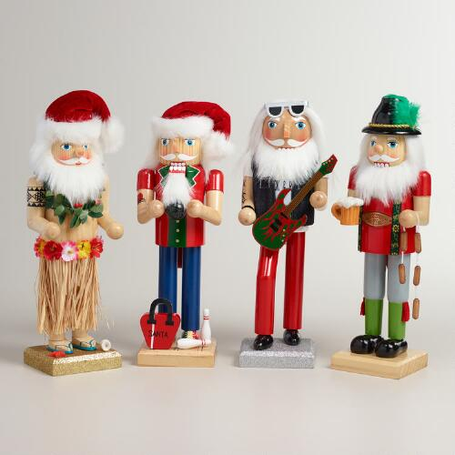 Santa Nutcrackers , Set of 4