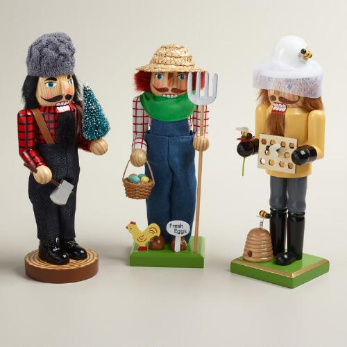 Outdoor Occupational Nutcrackers, Set of 3