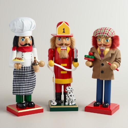 Occupational Nutcrackers, Set of 3