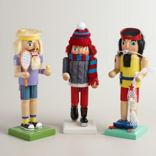 Recreational Sports Nutcrackers, Set of 3