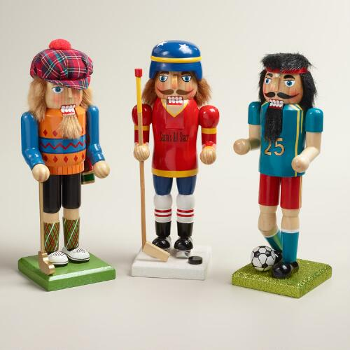 Classic Sports Nutcrackers, Set of 3