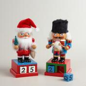 Christmas Countdown Nutcrackers,  Set of 2