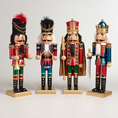 Tall Traditional Nutcrackers, Set of 4