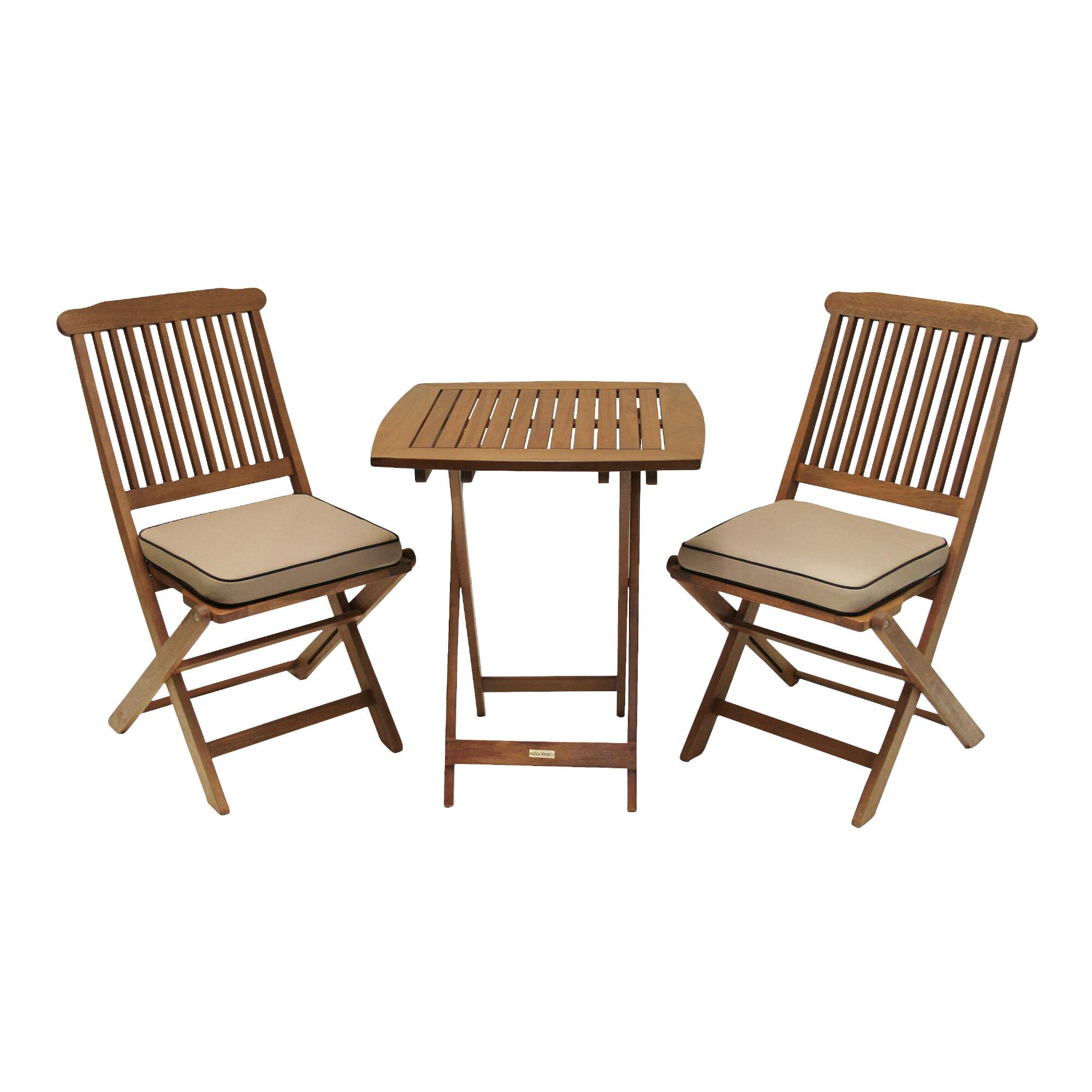 Cavallo piece bistro set with natural cushions world