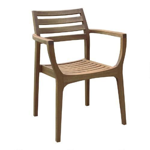 Wood Danner Stacking Armchairs, Set of 4