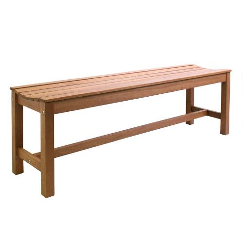 Wood Galena Backless Bench