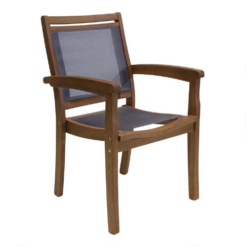 Wood Galena Stacking Armchair