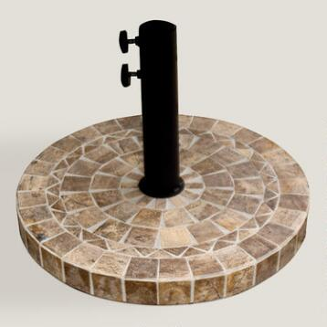 Brown Marble Umbrella Base
