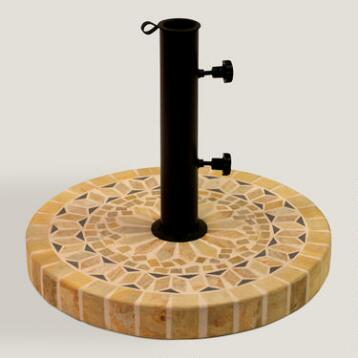 Matte Stone Umbrella Base