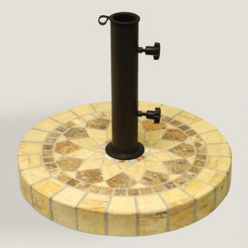 Honeycomb Marble Umbrella Base