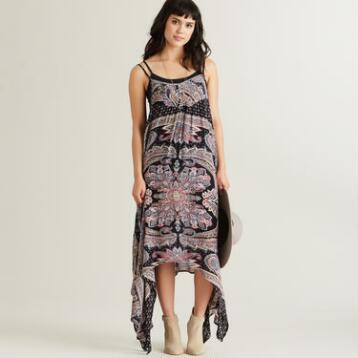 Floral Asymmetrical Riley Maxi Dress