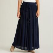 Blue Veronica Maxi Skirt