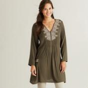 Olive Embroidered Florence Tunic