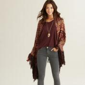 Jacquard Amal Wrap with Fringe