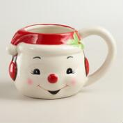 Hand-Painted Snowman Mug, Set of 4