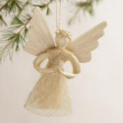 Natural Fiber Angel Ornament