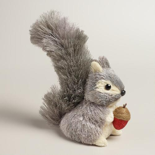Natural Fiber Gray Squirrel