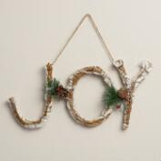 Glittered Twig Joy Wall Décor