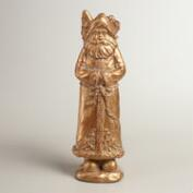 Antique Gold Old World Santa Decor