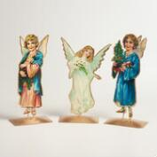 Metal Vintage-Style Angel Decor, Set of 3
