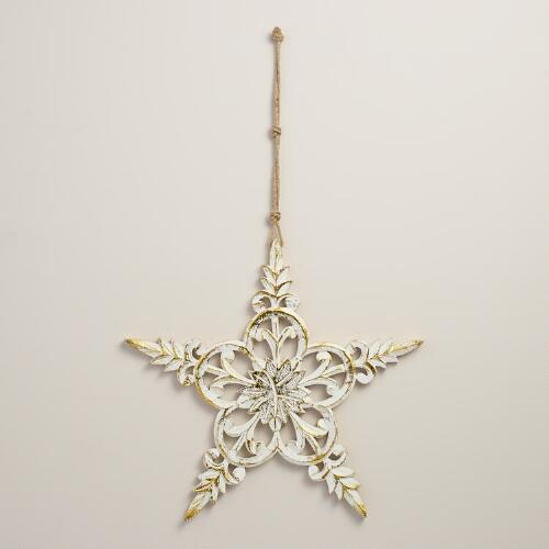 Carved Star Hanging Decor