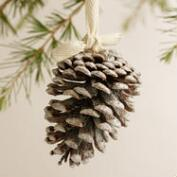 Pinecone with Frosty Glitter Ornaments, Set of 3