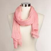Pink and Gold Foil Scarf