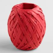 Red Paper Raffia Eggs, Set of 2
