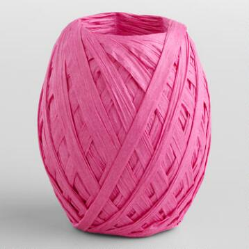 Fuchsia Paper Raffia Eggs, Set of 2