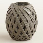 Gray Paper Raffia Eggs, Set of 2
