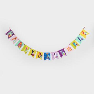 Owls Happy Birthday Banner