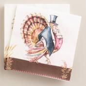 Mr. Turkey Thanksgiving Lunch Napkins, 20-Count