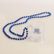 Blue Oktoberfest Beads with Mug, Set of 2