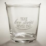 True Love Stories Etched Ice Bucket