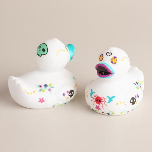 Dia De Los Muertos Rubber Duck, Set of 2