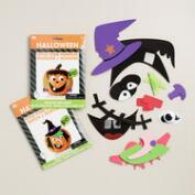 Halloween Stick-on Pumpkin Decorating Kit, Set of 2