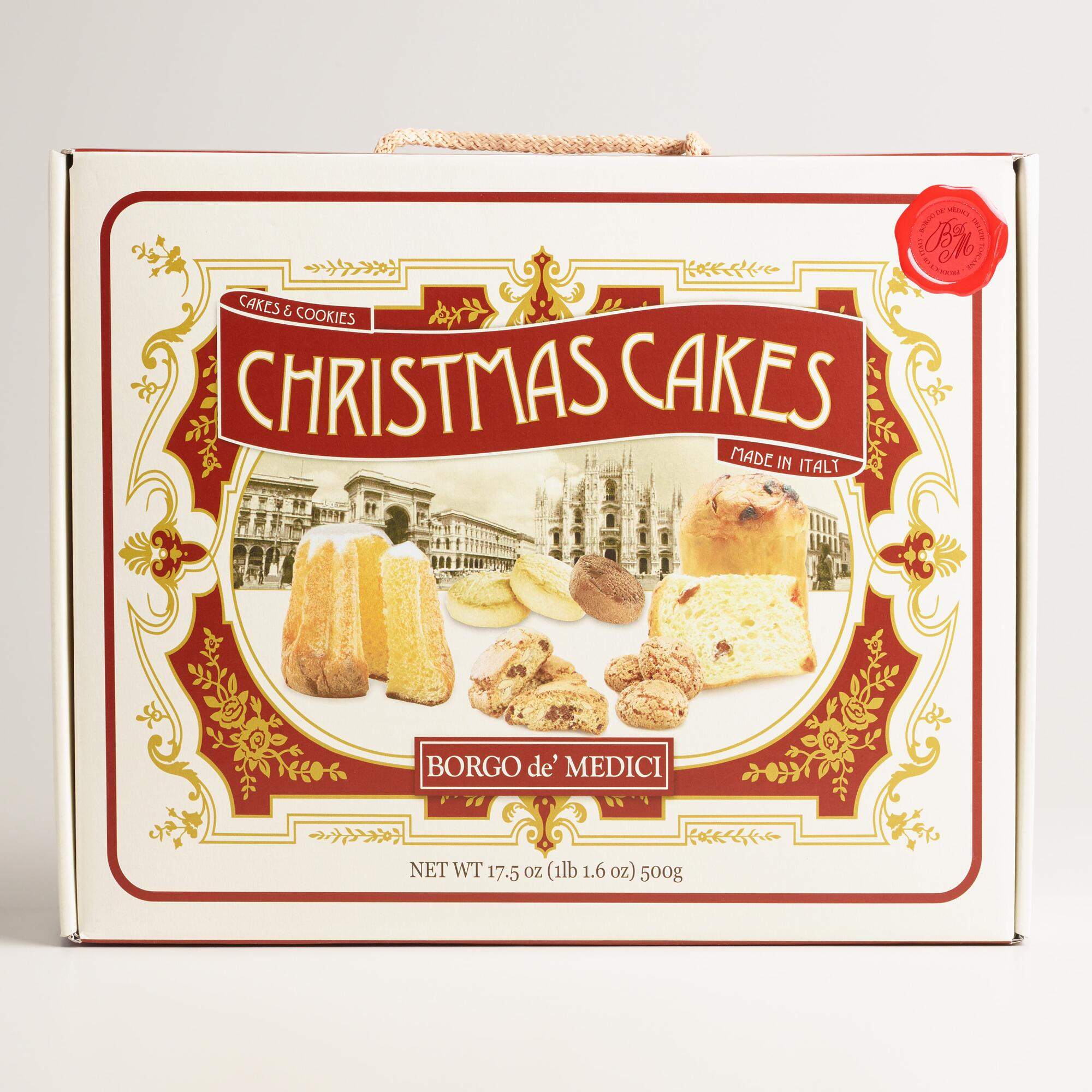 Borgo christmas cake gift box world market for Christmas cake gift