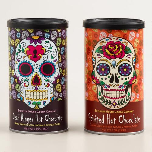 Day of the Dead Instant Hot Cocoa Cans, Set of 2