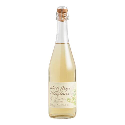 Sparkling White Grape and Elderflower Soda